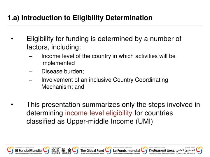 1 a introduction to eligibility determination