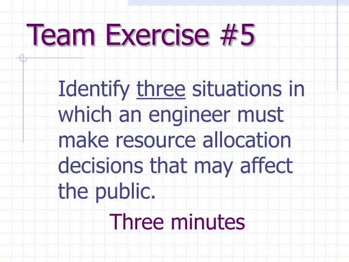 Team Exercise #5