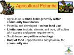 agricultural potential