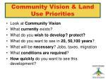community vision land use priorities