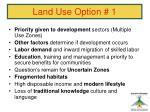 land use option 1