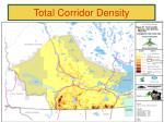 total corridor density1