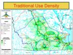 traditional use density1