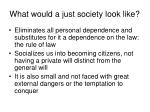 what would a just society look like