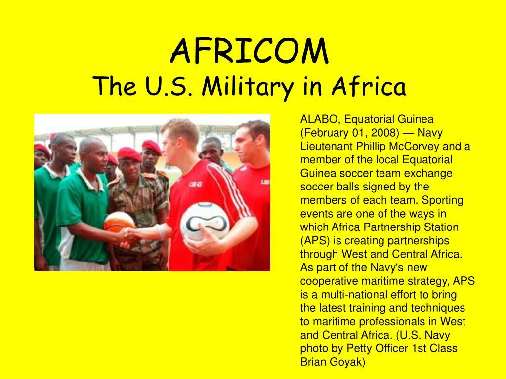 africom the u s military in africa l.
