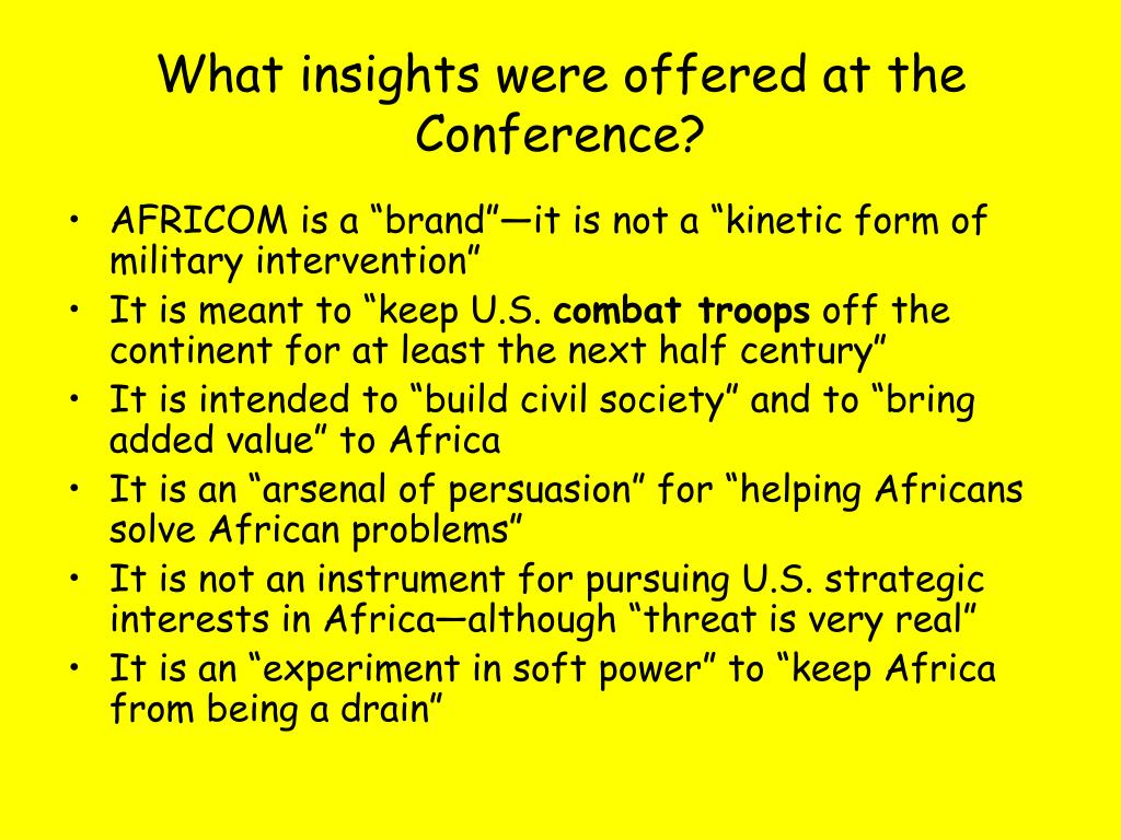 What insights were offered at the Conference?