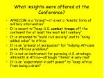 what insights were offered at the conference