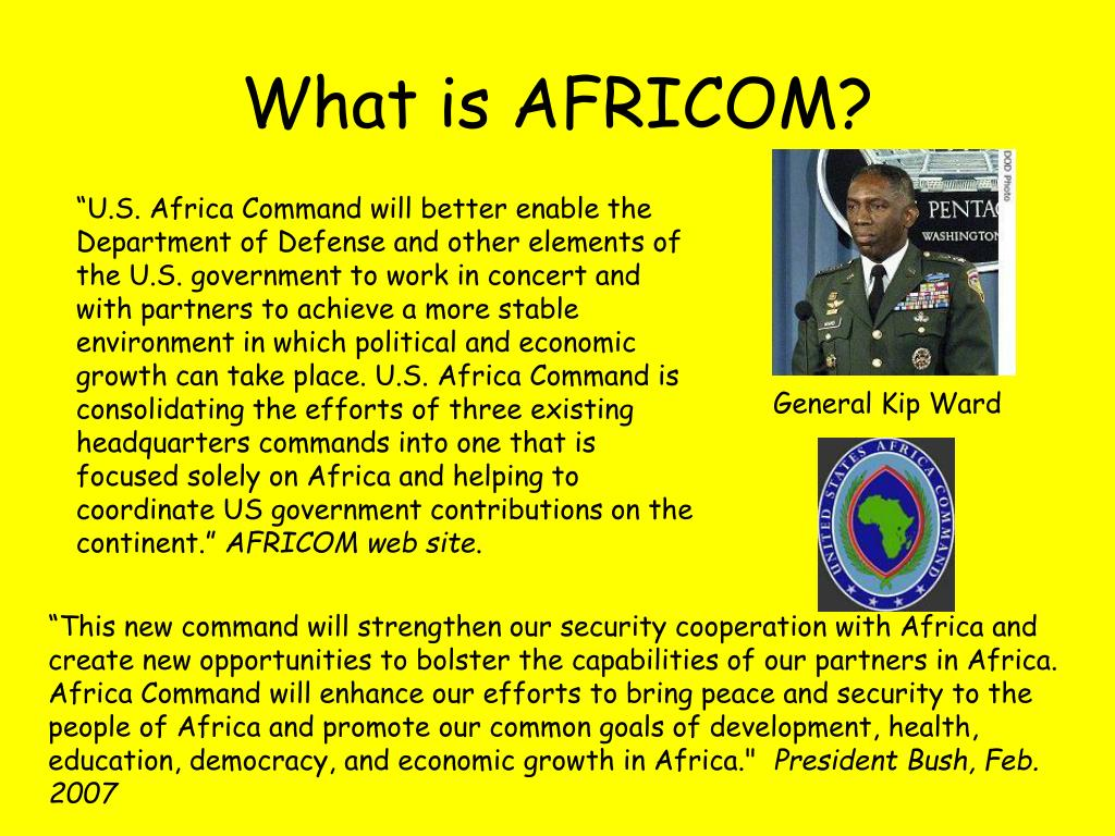 What is AFRICOM?