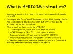 what is africom s structure