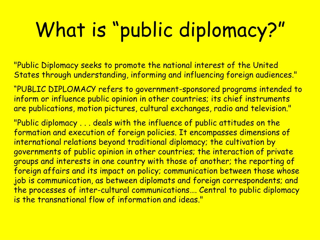 "What is ""public diplomacy?"""