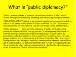 what is public diplomacy