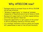 why africom now