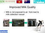 improved milk quality