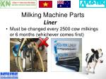 milking machine parts