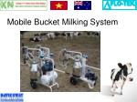 mobile bucket milking system