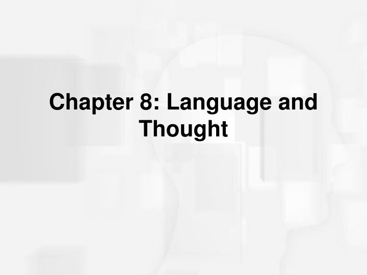 chapter 8 language and thought n.