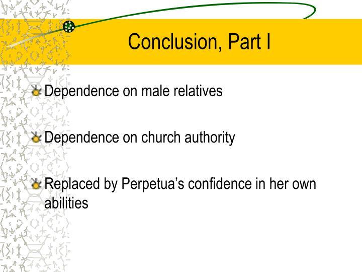 Conclusion, Part I