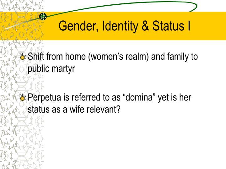 Gender, Identity & Status I