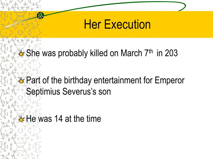 Her execution