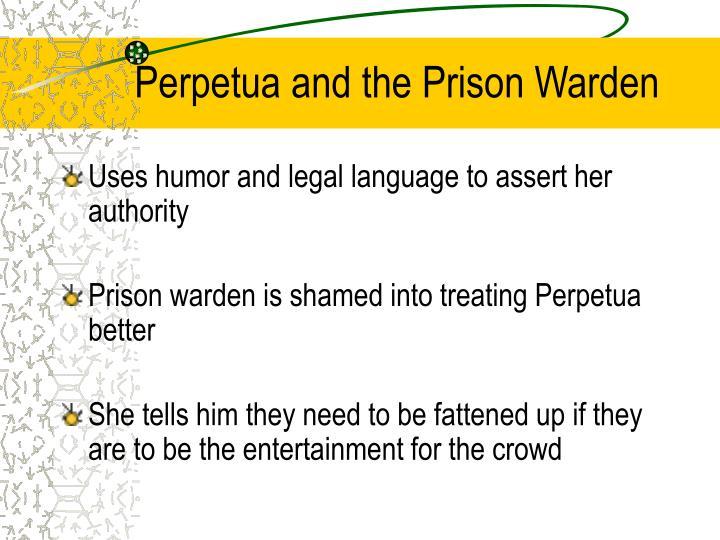 Perpetua and the Prison Warden