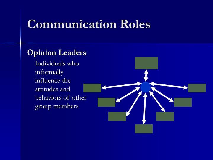 Communication Roles