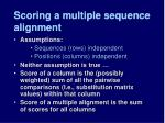 scoring a multiple sequence alignment