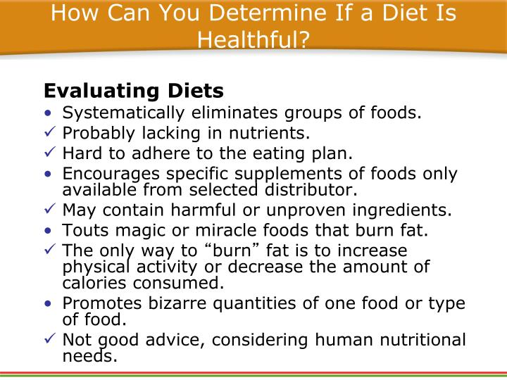 How Can You Determine If a Diet Is Healthful?