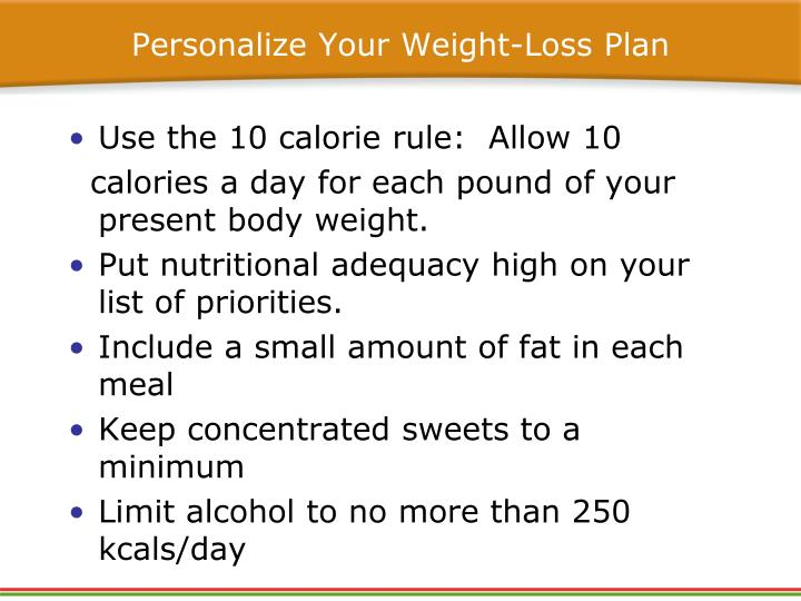 Personalize Your Weight-Loss Plan