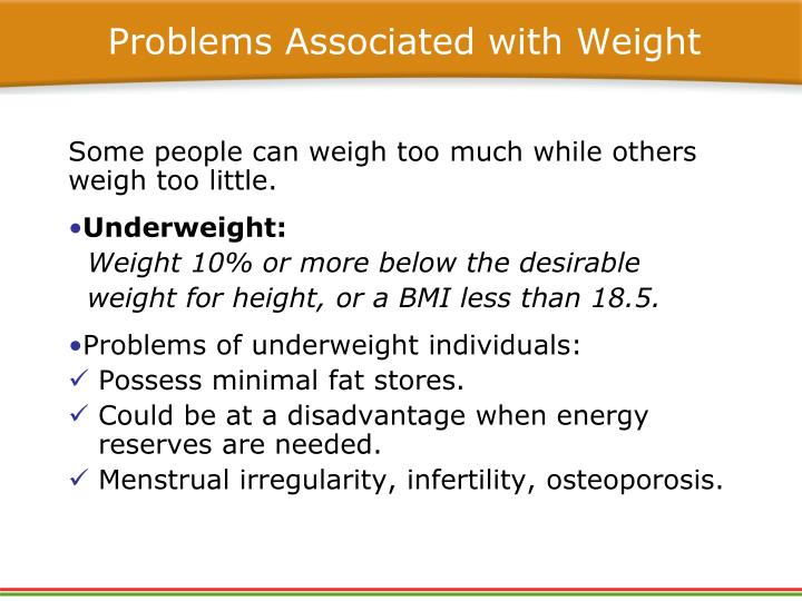 Problems Associated with Weight