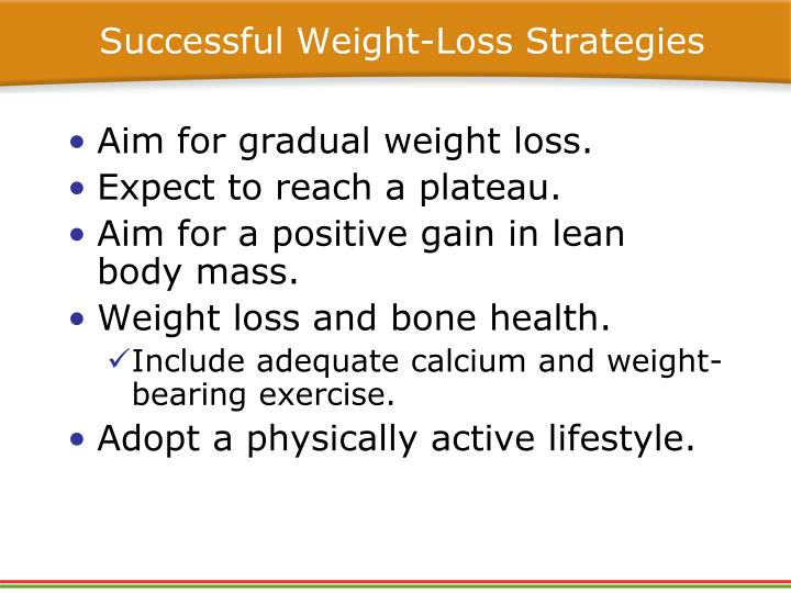 Successful Weight-Loss Strategies