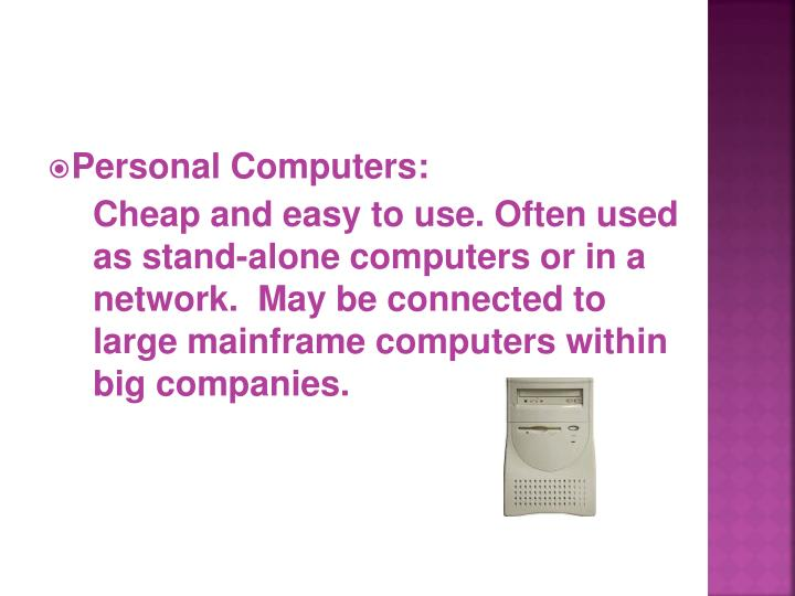 Personal Computers: