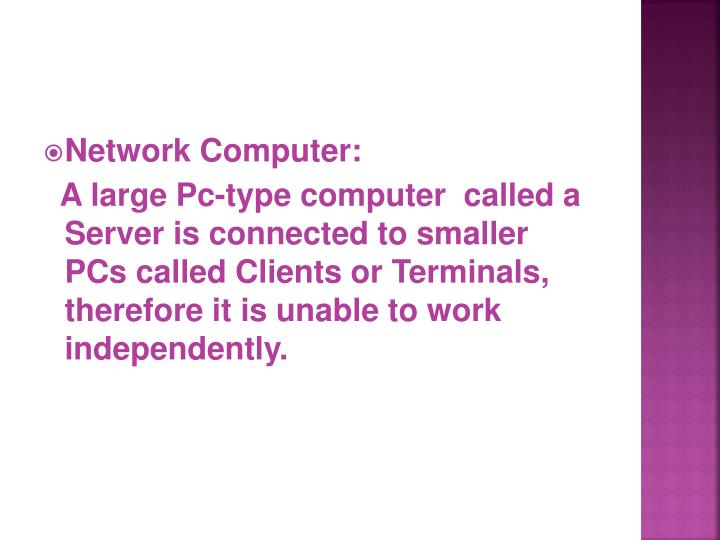 Network Computer: