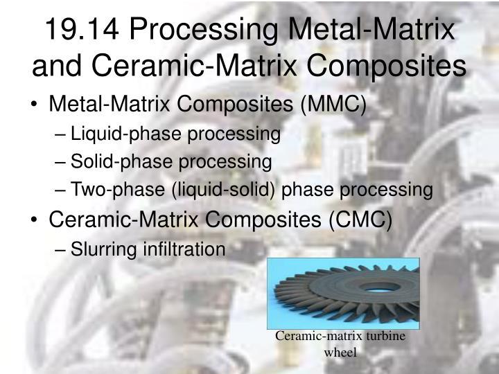 19.14 Processing Metal-Matrix and Ceramic-Matrix Composites