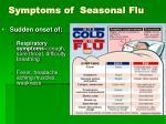 symptoms of seasonal flu