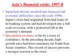 asia s financial crisis 1997 8