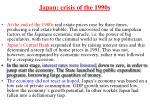 japan crisis of the 1990s