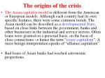 the origins of the crisis