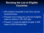 revising the list of eligible countries