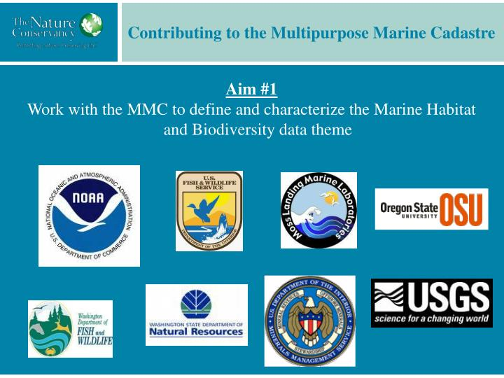 Contributing to the Multipurpose Marine Cadastre
