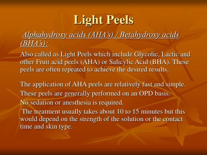 Light Peels