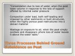 three processes behind ground subsidence on peat