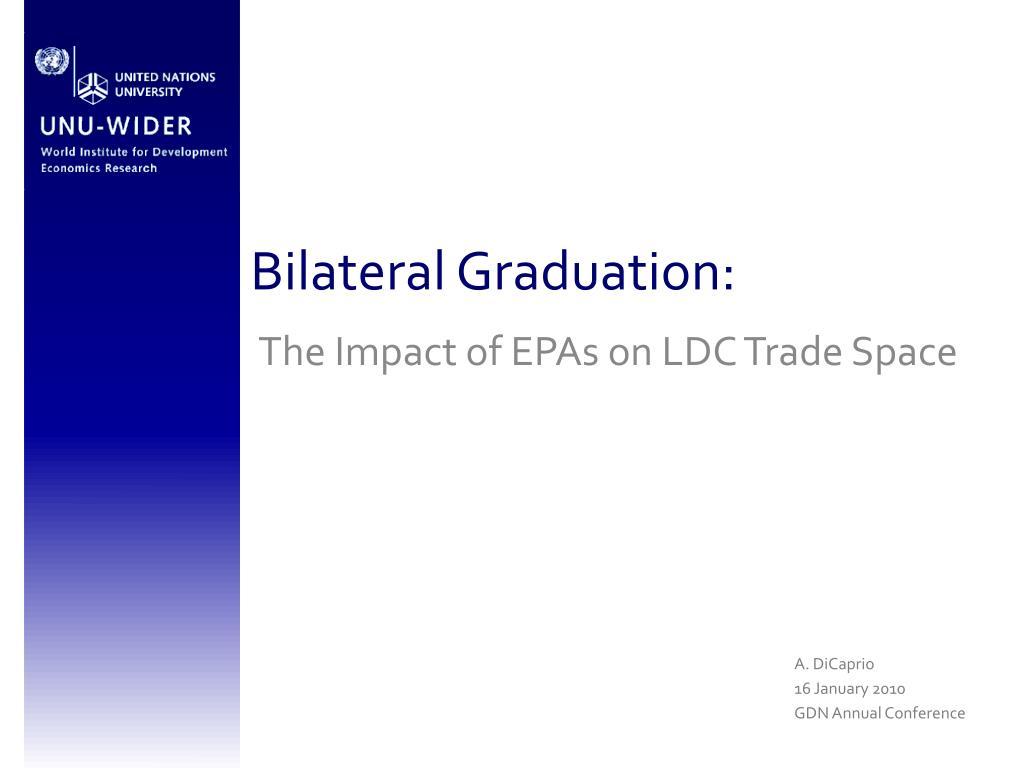 Bilateral Graduation: