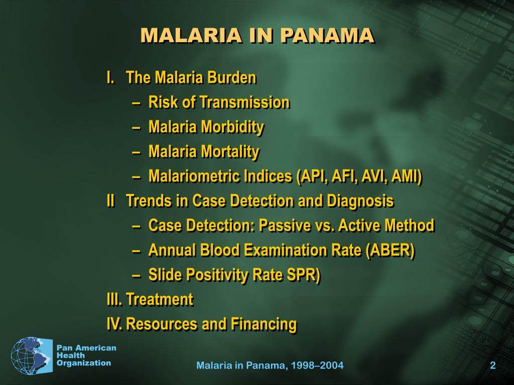 MALARIA IN PANAMA