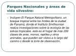 parques nacionales y reas de vida silvestre
