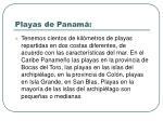 playas de panam