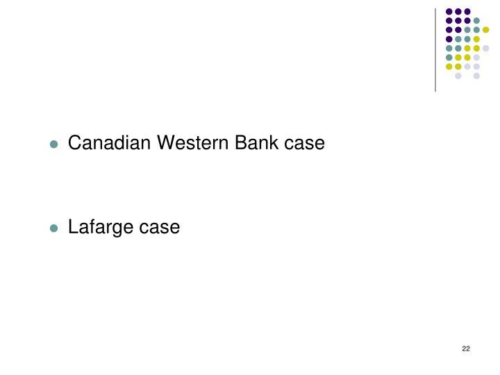 Canadian Western Bank case
