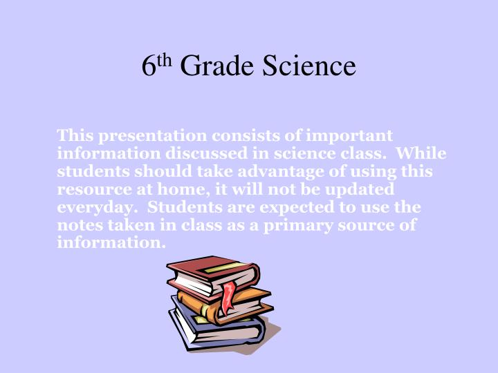 PPT - 6 th Grade Science PowerPoint Presentation - ID:1089507