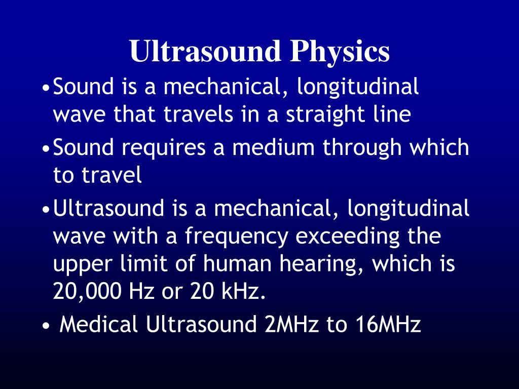 Ppt Ultrasound Physics Powerpoint Presentation Id 1089509