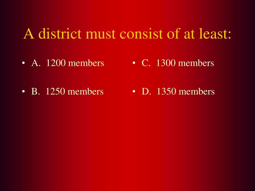 A.  1200 members