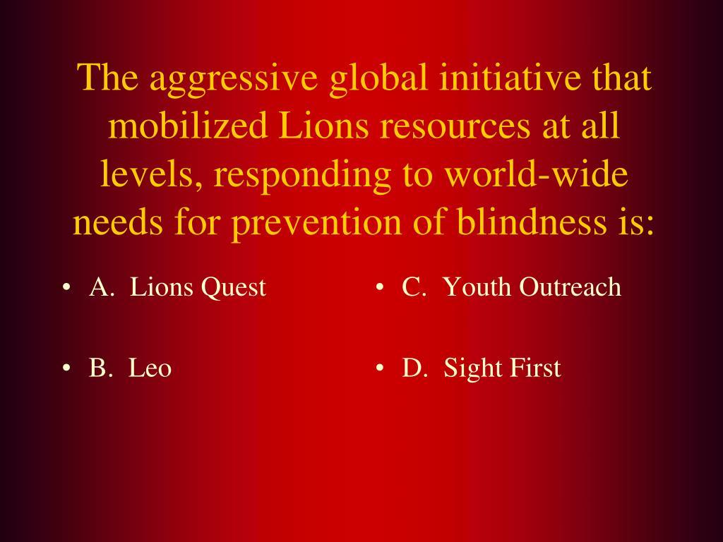 A.  Lions Quest